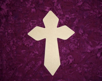 """Unfinished Wood Cross Wooden Crosses 11"""" Inch Tall Paintable MDF Crafts  Part MC11-131"""