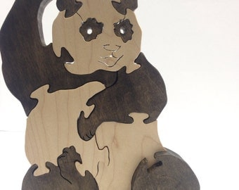 Panda bear freestanding 3D puzzle- Great gift for kids or adults