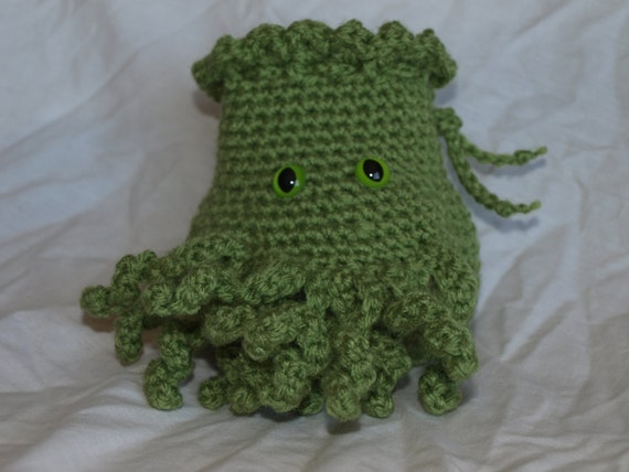 Cthulhu Dice Bag Crochet Pattern Legitefo For