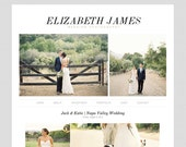 Blogger Template Premade Blog Theme for Photography, with Image Slideshow, 1 Column - Elizabeth James, Simple Chic, Black and Gray