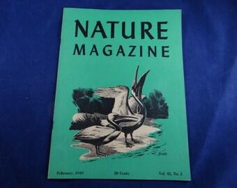 Vintage 1949 Nature Magazine - February