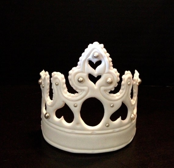 Cake Decoration Crown : Large Fondant Crown Tiara Cake Decoration