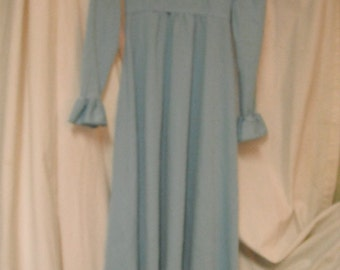 Vintage Put On maxi dress, baby blue