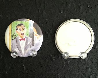 PeeWee Herman original art pocket mirror