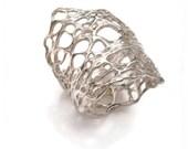 Sterling silver terra ring