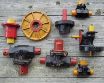 SALE - Collection of 8 Industrial Wood Foundry Machine Molds