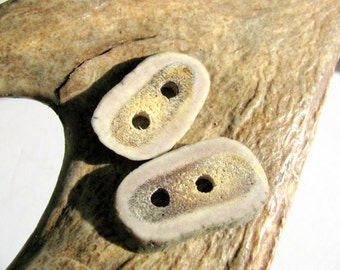 Two elk Antler buttons, homemade from naturally shed elk antler