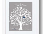 Wedding Gift for Groom's Parents - Future In-Law Gift from Bride - Personalized Thank You Print - Other colors available