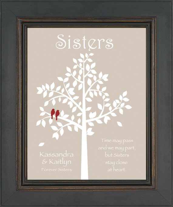 Sister Wedding Gifts: SISTERS Gift Print Personalized Gift For By KreationsbyMarilyn