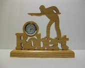 Personalized Billiard Player Desk Clock