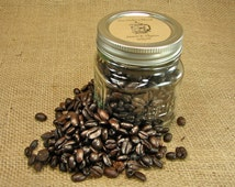 Wedding Coffee Favors - French Press Design Mason Jar Wedding Favors - 20 Eight Ounce Square Mason Jars