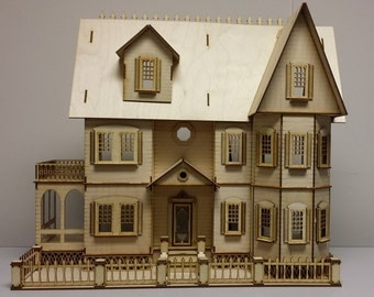 Stephanie Country Mansion Half inch scale Doll house Kit