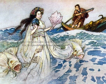 Sea Witch Fabric Block - Daughter of the Deep Sea - Warwick Goble