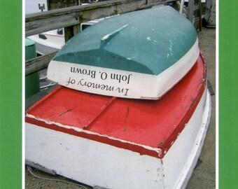 John O. Brown dinghys - photo card