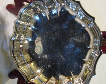 Chippendale Silverplate serving dish.