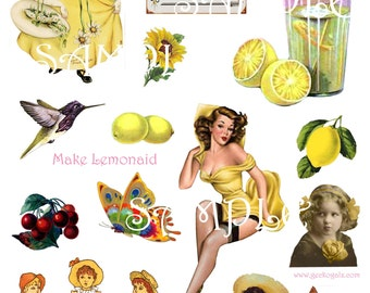 Let's Make Lemonaid Digital Collage sheet