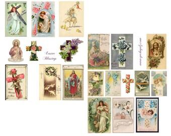 Easter Blessings Digital Collage Set