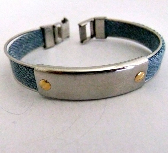 italy milor stainless steel cuff bracelet by ediesbest on etsy