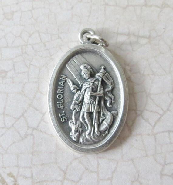 St Florian Necklace: St. Florian Medal/Pendant Patron Saint Of Firefighters 1