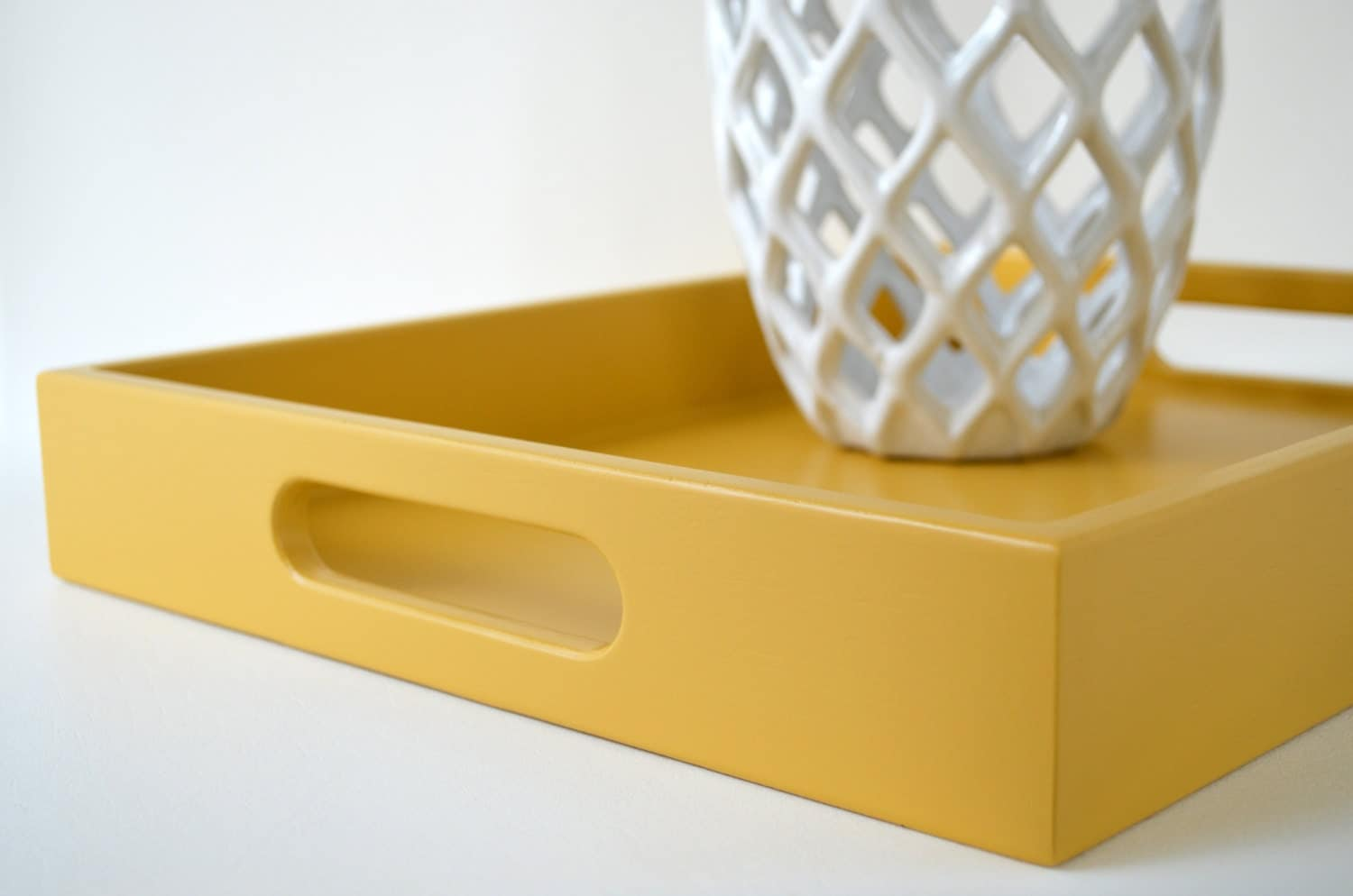 Mustard Yellow 14 X 18 Serving Tray Yellow Coffee Table Tray
