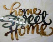 Home Sweet Home Metal Art Sign