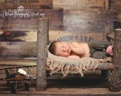Log Baby Bed