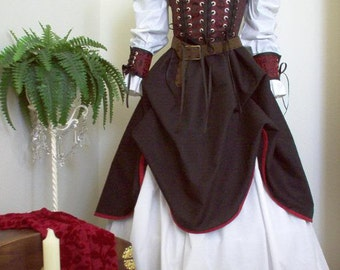 Underbust Pirate Renaisssance Costume Other Fabrics And Colors Available