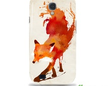 """Artist Designed - Samsung Galaxy S4/S4 Mini hardcase / cover / shell case - """"Vulpes"""" Fox, abstract,"""