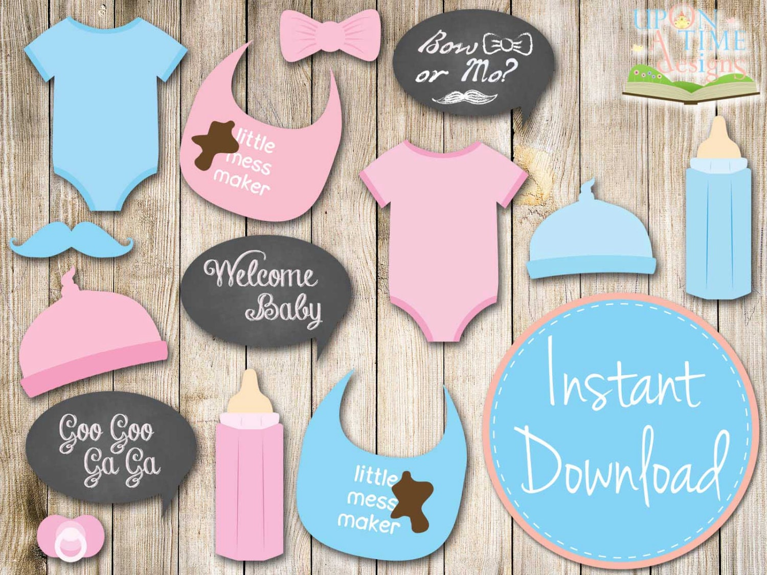 Monster image regarding baby shower photo booth props printable