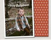 5x7 Christmas Card Photoshop Template, INSTANT DOWNLOAD, sku10-26