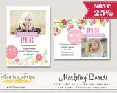 7x5in Spring Photography Marketing boards, PSD Newsletter Photoshop template, sku7-25, Instant download