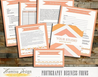 Photography Business Forms - Contract, Model Release,Print Release, sku 6-4