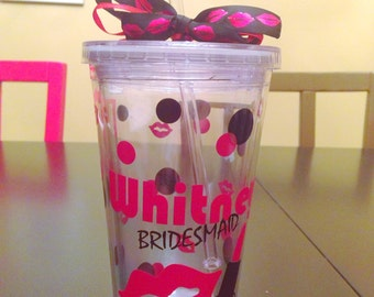 Personalized Tumbler Lips