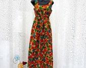 CIJ Sale Vintage Hawaiian Dress - Flower Power Tropical Style