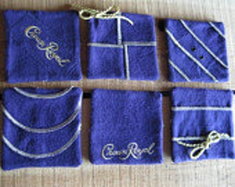 how to make crown royal coasters