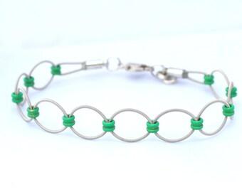 Green Loop Guitar String Bracelet