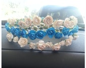 Beautiful blue or Ivory head crown