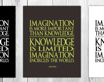 Imagination is more important than knowledge, Einstein quote, 8x10 typography print, instant download, printable wall art, Criminal Minds