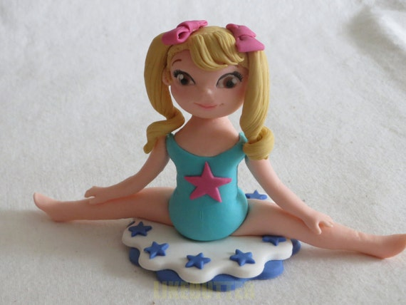 Gymnastic Cake Decorations Uk : Edible Fondant 3D Gymnastics Cake Topper by LikeButter on Etsy