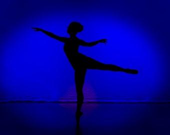 """Ballet Dancers Photo Print, Art Photography """"Dancer in Blue"""", 8x12 Photograph, Nursery Wall Art"""