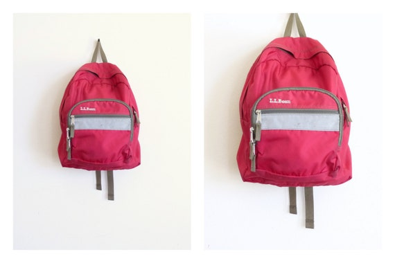 90 S Ll Bean Backpack Red Nylon Day Pack