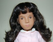 Beautiful 1980's Sasha Brunette Pink Dress ~displayed and not played with