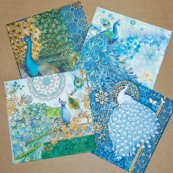 craft ideas with paper napkins decoupage napkins peacock design 4 different peacock paper 6335