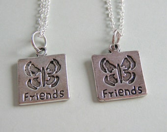 2 Best Friends Butterfly Necklaces