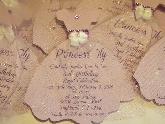 items similar to princess dress personalized invitation for baby shower sweet 16 bridal shower. Black Bedroom Furniture Sets. Home Design Ideas