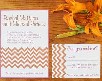 Printable Wedding Invitation Set - Chevron Suite
