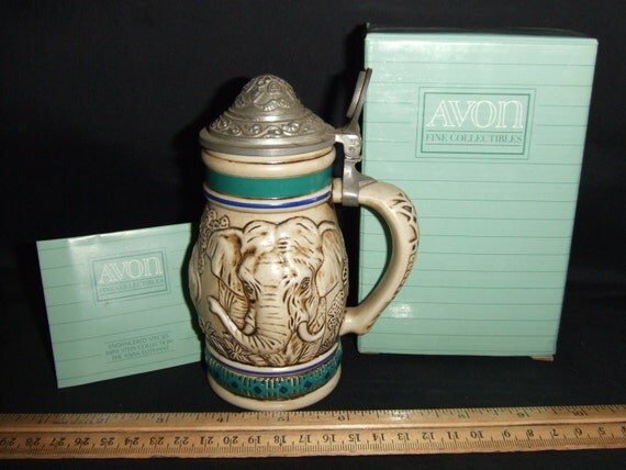 Endangered Species Mini Stein Collection-The Asian Elephant 1990