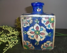 Incredible Character on this Antique Ceramic Persian Bottle