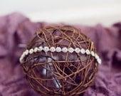 Newborn to Adult {Tiny Blooms} Rhinestone Tieback Headpiece, Newborn, Child, & Adult Photography Prop, Bridal Headpiece
