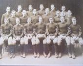 1927 LG Antique Football Team Photo Original Antique Picture Varsity Football Team Players FootBall Coach 1920s Sport Enthusiest